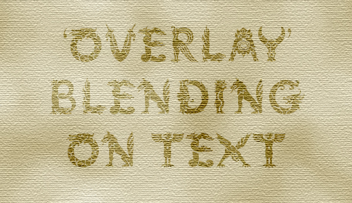 example of text that has an overlay blend on top of a texture
